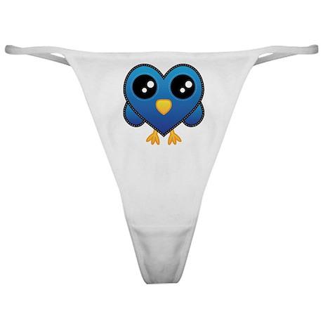 Heart Blue Bird Classic Thong