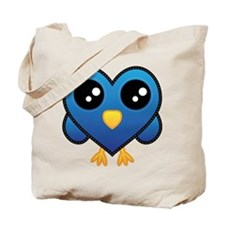 Heart Blue Bird Tote Bag