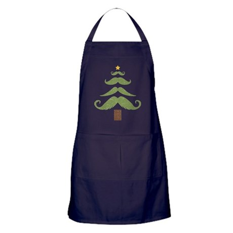 Mustache Tree Apron (dark)