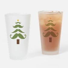 Mustache Tree Drinking Glass