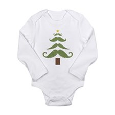 Mustache Tree Long Sleeve Infant Bodysuit