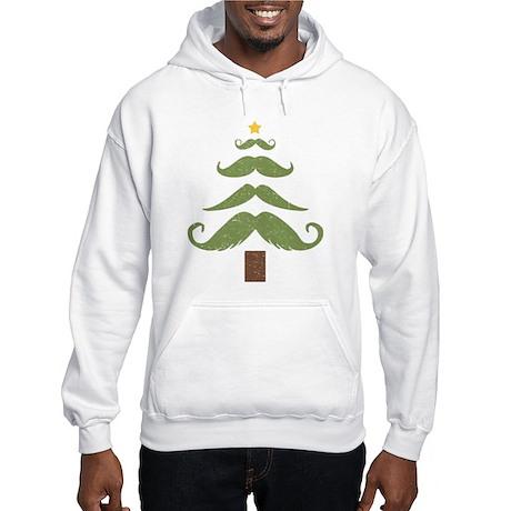 Mustache Tree Hooded Sweatshirt