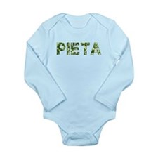 Pieta, Vintage Camo, Long Sleeve Infant Bodysuit