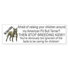 """""""Pit Bull"""" Bumper Bumper Sticker"""