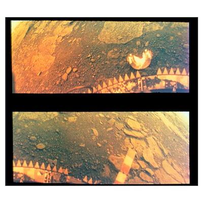 Venera 13 photos of surface of Venus Poster