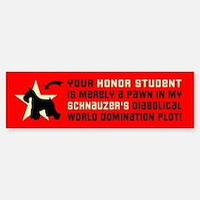 SCHNAUZER World Domination Bumper Car Car Sticker