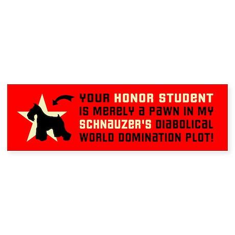 SCHNAUZER World Domination Bumper Sticker