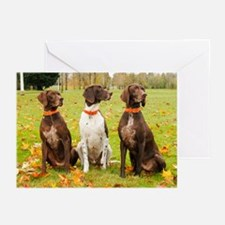 Dog Dayz, Annie's GSPs Greeting Cards (Pk of 10)