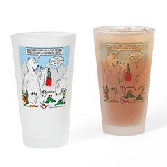 Polar Bear Snack Drinking Glass
