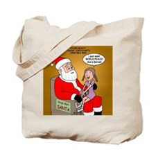 Storefront Santa Wish Tote Bag
