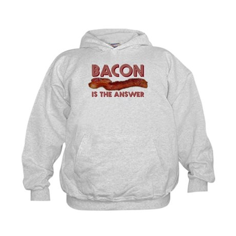 Bacon is the Answer Kids Hoodie