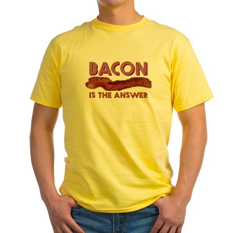 Bacon is the Answer Yellow T-Shirt