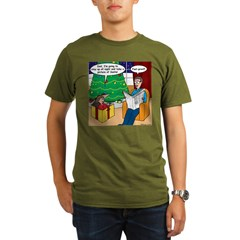 Waiting Up for Santa Organic Men's T-Shirt (dark)