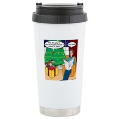 Waiting Up for Santa Travel Mug