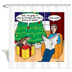 Waiting Up for Santa Shower Curtain