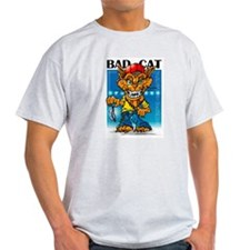 Twisted Toons - Bad Cat Ash Grey T-Shirt