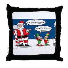 Santa's Party Throw Pillow