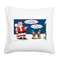 Santa's Party Square Canvas Pillow