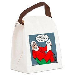 Santa's Bad List Canvas Lunch Bag