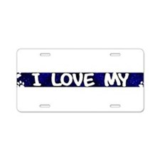 Cute Frames Aluminum License Plate