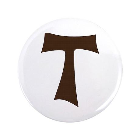 "Tau Cross or Crux Commissa 3.5"" Button (100 pack)"