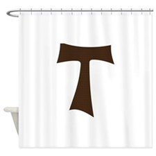 Tau Cross or Crux Commissa Shower Curtain