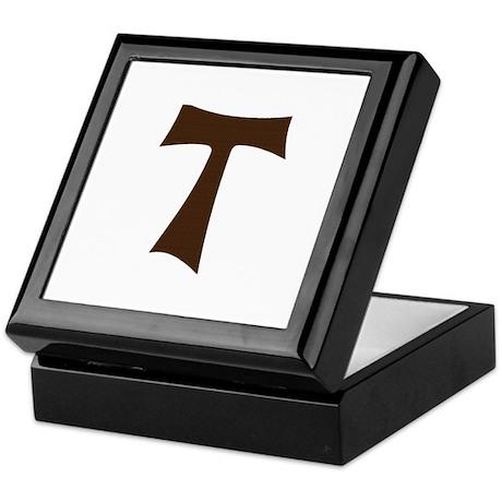 Tau Cross or Crux Commissa Keepsake Box