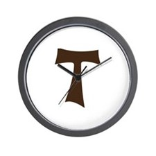 Tau Cross or Crux Commissa Wall Clock