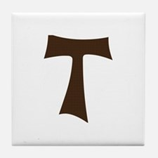Tau Cross or Crux Commissa Tile Coaster