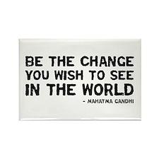 quote_gandhi_change_whitesticker Magnets