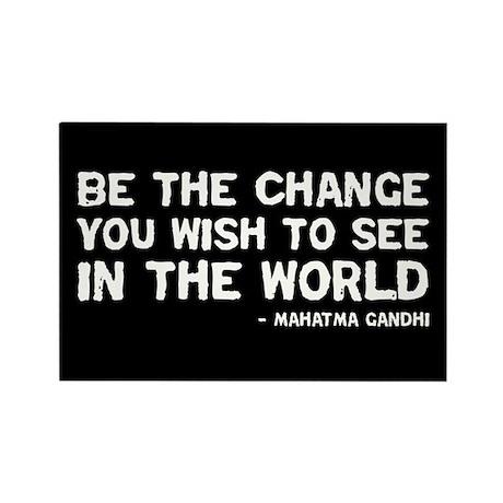 quote_gandhi_change_sticker Magnets