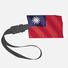 Wavy Taiwan Flag Luggage Tag