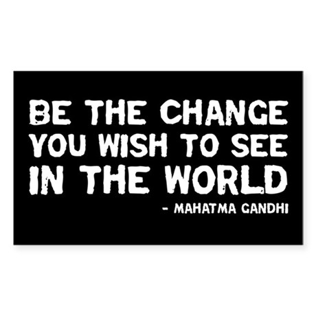 quote_gandhi_change_sticker Sticker