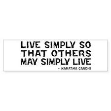 Quote - Live Simply Bumper Sticker