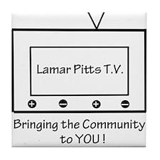 Lamar Pitts TV. Tile Coaster