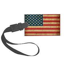 Vintage America Flag Luggage Tag