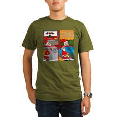 Santa Gets No Respect Organic Men's T-Shirt (dark)