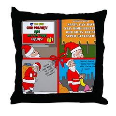 Santa Gets No Respect Throw Pillow