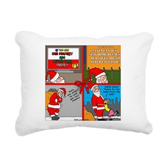 Santa Gets No Respect Rectangular Canvas Pillow