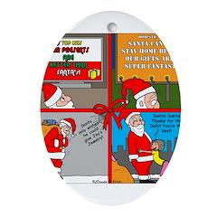 Santa Gets No Respect Ornament (Oval)