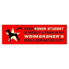 WEIMARANER World Domination Bumper Sticker