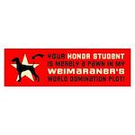WEIMARANER World Domination Sticker