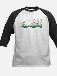 Happy Spring Lamb Kids Baseball Jersey