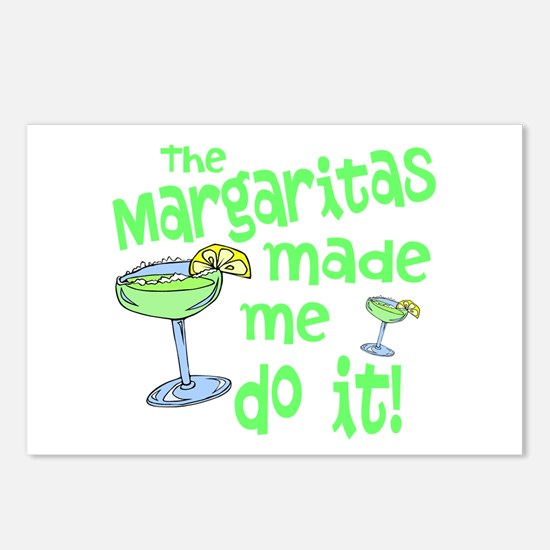Margaritas made me Postcards (Package of 8)