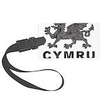 Vintage Cymru Large Luggage Tag