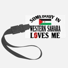 Somebody In Western Sahara Luggage Tag