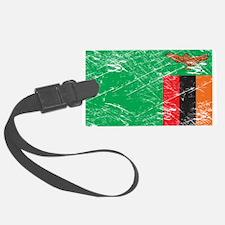 Vintage Zambia Flag Luggage Tag