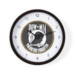 POW/MIA Warrior Wall Clock