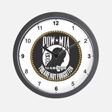 POW/MIA Warrior Wall Clock