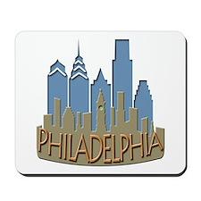 Philly Skyline Newwave Beachy Mousepad
